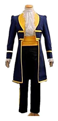 hesapli -Prens Peri Masalı / Bajka Beyaz atlı prens Palto Cosplay Kostümleri Erkek Yılbaşı Cadılar Bayramı Karnaval Festival / Tatil Sarı+Mavi Erkek Kadın's Karnaval Kostümleri Solid