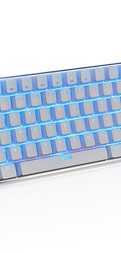 preiswerte -AJAZZ AK33 USB verkabelt mechanische Tastatur Gaming-Tastatur Spielen leuchtend Einfarbige Hintergrundbeleuchtung 82 pcs Schlüssel