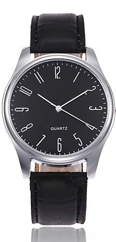 ราคาถูก -สำหรับผู้ชาย นาฬิกาข้อมือ นาฬิกาอิเล็กทรอนิกส์ (Quartz) หนัง ดำ / น้ำตาล ระบบอนาล็อก ไม่เป็นทางการ แฟชั่น สง่างาม Aristo ดูง่าย - สีดำ / สีน้ำตาล ดำ / ขาว White / สีเบจ