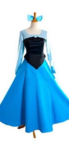 povoljno -Princeza Cinderella Fairytale Žene Halloween Karneval Festival / Praznik Elastan Tactel Ocean Blue Karneval kostime Vintage
