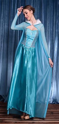 economico -Da principessa Dea Elsa Feste / vacanze Misto cotone Blu Costumi carnevale Tinta unica