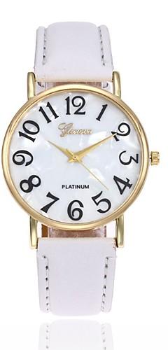 ราคาถูก -สำหรับผู้ชาย สำหรับผู้หญิง นาฬิกาข้อมือ นาฬิกาอิเล็กทรอนิกส์ (Quartz) หนัง ดำ / สีขาว / ฟ้า นาฬิกาใส่ลำลอง ระบบอนาล็อก เสน่ห์ แฟชั่น - สีชมพู สีกากี สีเขียวอ่อน