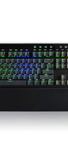preiswerte -AJAZZ AK45-RGB USB verkabelt mechanische Tastatur Gaming-Tastatur Kailh BOX Programmierbar leuchtend RGB-Hintergrundbeleuchtung 111 pcs Schlüssel