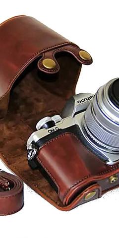 preiswerte -dengpin® olympus om-d e-m10 mark ii em10 mark2 14-42 mm langes Objektiv PU-Leder Kameratasche Tasche mit Schultergurt