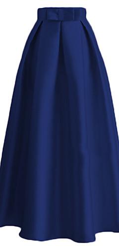 povoljno -Audrey Hepburn Vintage Retro 1950-te Etnikai Moda Suknja Žene Svila Kostim Crn / Plav / Narančasta Vintage Cosplay Svakodnevica Do gležnja / Remen / Remen