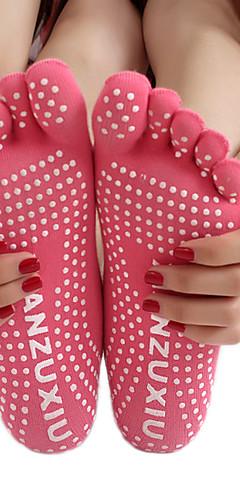 ราคาถูก -สำหรับผู้หญิง ถุงเท้าโยคะ Grip Yoga Socks ถุงเท้าห้านิ้ว ถุงเท้า ระบายอากาศ Moisture Wicking ป้องกันการลื่นล้ม สวมใส่ได้ สบาย โยคะ Pilates เต้นรำ Bikram Barre 1 คู่ กีฬา ฤดูหนาว สายรุ้ง คลาสสิก / ยืด
