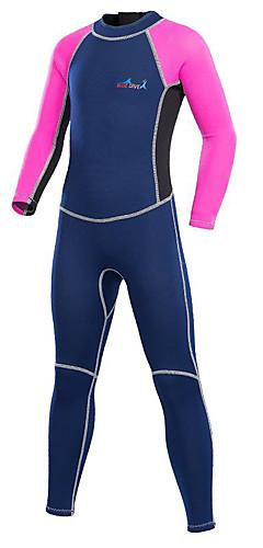 رخيصةأون -Bluedive للصبيان للفتيات بدلة غطس كاملة 2mm نايلون النيوبرين سترات للغوص الدفء حماية من الأشعة فوق البنفسجية سريع جاف كم طويل السحاب الخلفي - سباحة غوص تزلج على الماء بقع / قابل للبسط / للأطفال