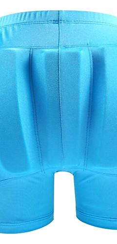 رخيصةأون -شورت ضاغط / شورت رياضي ضاغط مبطن إلى التزلج / التزحلق على الجليد واقي تدرب أسود / دراق / أزرق سماوي