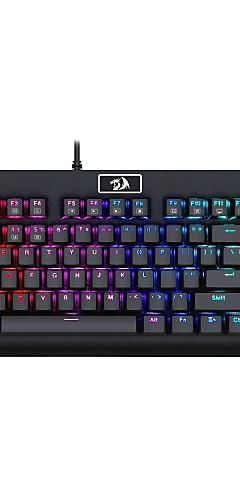 preiswerte -REDRAGON K568 USB verkabelt mechanische Tastatur Gaming-Tastatur Programmierbar leuchtend RGB-Hintergrundbeleuchtung 87 pcs Schlüssel