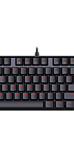 preiswerte -REDRAGON K552 USB verkabelt mechanische Tastatur Gaming-Tastatur Outemu leuchtend Rote Hintergrundbeleuchtung 87 pcs Schlüssel