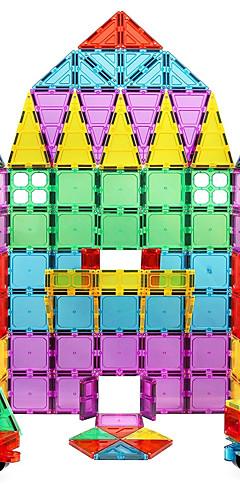 رخيصةأون -مكعبات مغناطيسية البلاط المغناطيسي أحجار البناء ألعاب تربوية كتل مغناطيسية ثلاثية الأبعاد بناء الحواجز 60-120 pcs خلاق نمط هندسي الجسم شفافة ألعاب بناء للصبيان للفتيات ألعاب هدية / للأطفال