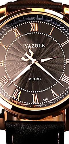 ราคาถูก -สำหรับผู้ชาย นาฬิกาทหาร ญี่ปุ่น นาฬิกาอิเล็กทรอนิกส์ (Quartz) หนังแท้ ดำ / น้ำตาล 30 m noctilucent นาฬิกาใส่ลำลอง ระบบอนาล็อก แฟชั่น - ขาว สีดำ สีน้ำตาล หนึ่งปี อายุการใช้งานแบตเตอรี่