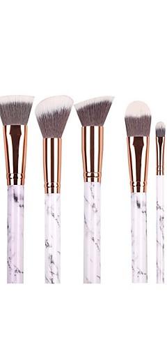 billige -Profesjonell Makeup børster Børstesett 10pcs Økovennlig Profesjonell Myk Syntetisk hår Marmor / Granitt / Plast Sminkebørster til Rougebørste Øyenskyggebørste Sminkebørstesett Pudderbørste