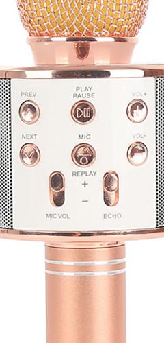 preiswerte -WS858 Kabellos / Bluetooth Mikrofon Other Dynamisches Mikrofon Handmikrofon / Modisch Für Bar / Karaoke Mikrofon
