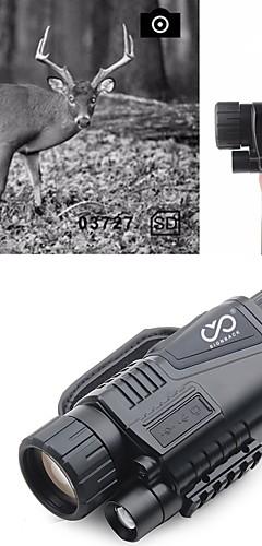 رخيصةأون -5 X 40 mm للرؤية الليلية أحادي الأشعة تحت الحمراء قابلة لإعادة الشحن تسجيل الصور والفيديو وظيفة محمول ليلة الرؤية 5 m تغطية متعددة كاملة BAK4 الصيد التسلق العسكرية / الطيور تراقب