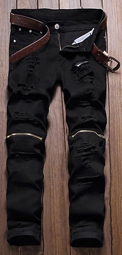 abordables -Homme Punk & Gothique Quotidien Chino Pantalon Géométrique Blanche Noir Rouge 28 29 30