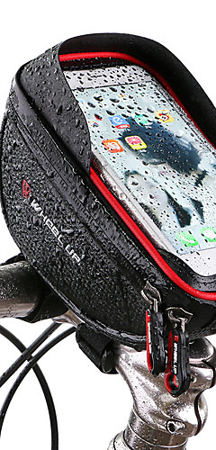 cheap -Wheel up Cell Phone Bag Bike Handlebar Bag 6 inch Touch Screen Reflective Cycling for Cycling iPhone X iPhone XR Red Black Mountain Bike / MTB Road Bike / iPhone XS / iPhone XS Max