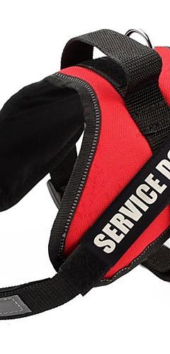 رخيصةأون -كلاب أربطة شرائط عاكسة مقاومة الهزة سترة المشي ألوان متناوبة نايلون كلب متوسط كلب كبير كلب الخدمة أسود أحمر 1PC