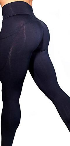 ราคาถูก -สำหรับผู้หญิง เอวสูง กางเกงโยคะ กระเป๋า สีดำ อาร์มี่ กรีน สีม่วงอ่อน สีน้ำเงินกรมท่า สีดำ ตารางไขว้ วิ่ง การออกกำลังกาย ยิมออกกำลังกาย ถุงน่องการขี่จักรยาน เลกกิ้ง กีฬา ชุดทำงาน Butt Lift Tummy