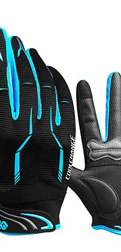 Недорогие -CoolChange Зима Перчатки для велосипедистов Перчатки для горного велосипеда Горные велосипеды Сохраняет тепло Дышащий Противозаносный Впитывает пот и влагу Полный палец Спортивные перчатки