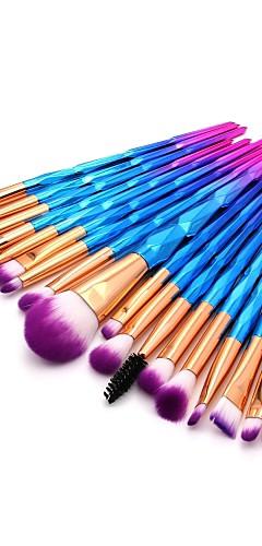 billige -20pcs Makeup børster Profesjonell Rougebørste / Øyenskyggebørste / Leppebørste Nylon Fiber Full Dekning