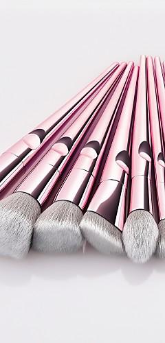 billige -10pcs Makeup børster Profesjonell Rougebørste / Øyenskyggebørste / Leppebørste Nylon Fiber Full Dekning
