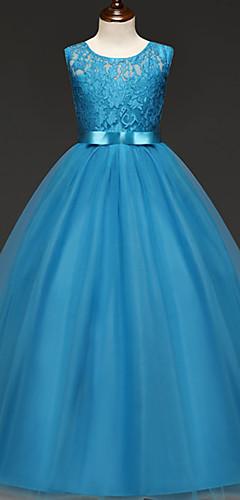 povoljno -Princeza Haljine Cvjetna djevojka haljina Djevojčice Filmski Cosplay Line-Slip Cosplay purpurna boja / Crvena / Pink Haljina Halloween Karneval Maškare Til Čipka Poliester