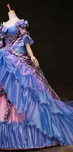 povoljno -Cinderella Princeza Victoria Style Rococo Haljine Izgledi Kostim za party Povorka maski Žene Kostim Duga Vintage Cosplay Party Prom 3/4 rukava