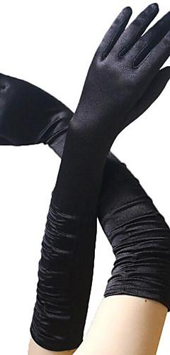 abordables -Audrey Hepburn Années 50 Gants Gants Longs Femme Costume Noir / Doré / Blanche Vintage Cosplay Soirée Fête scolaire