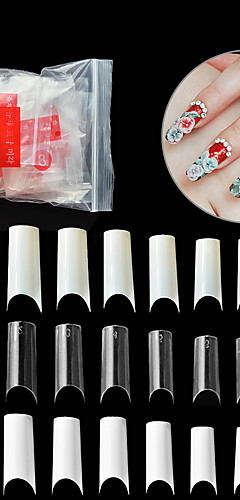 billige -500stk PVC Beste kvalitet ny Stilfull Unikt design Daglig Artificial Nail Tips til Fingernegl / Romantisk serie