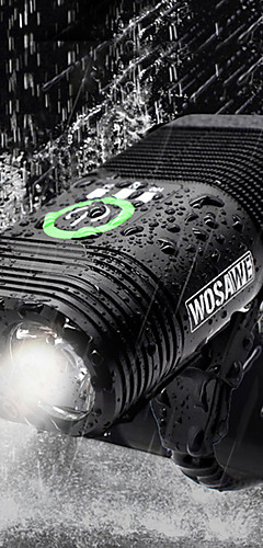 رخيصةأون -ثنائي ليد اضواء الدراجة ضوء الدراجة الأمامي مصابيح الدراجة مصباح يدوي الدراجة ركوب الدراجة ضد الماء قابلة لإعادة الشحن وسائط متعددة سطوع رائع USB 2400 lm قابلة لإعادة الشحن USB أبيض أخضر - WOSAWE