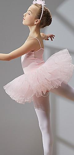 povoljno -Princeza Balet Labuđe jezero Slojevito Haljine kratka baletska suknja Suknja s mjehurićima Pod suknjom Djevojčice Dječji Til Spandex Pamuk Kostim Crn / Coral Red / Dusty Rose Vintage Cosplay Boži