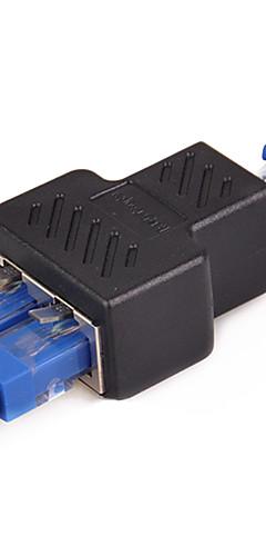 preiswerte -LAN-Ethernet-Netzwerkkabel RJ45-zu-RJ45-Adapter 1 - 2-Wege-Buchse - Buchse Splitter-Anschlussadapter