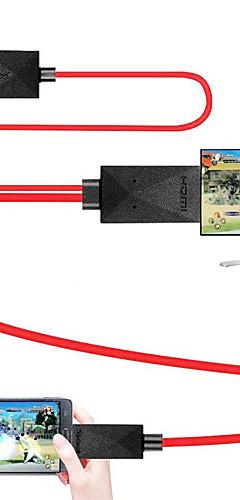 preiswerte -mhl kabel micro usb 2.0 zu hdmi 1.4 adapterkabel stecker - stecker 1.8m