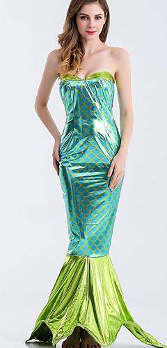 ราคาถูก -หางนางเงือก Aqua Queen Aqua Princess คอสเพลย์และคอสตูม บีกีนี่ Party Costume สำหรับผู้หญิง คอสเพลย์ภาพยนตร์ ฟ้า Tail วันฮาโลวีน เทศกาลคานาวาล เสื้อผ้าที่สวมไปงานเต้นรำสวมหน้ากาก Terylene