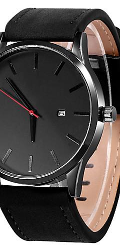 ราคาถูก -สำหรับผู้ชาย นาฬิกาตกแต่งข้อมือ นาฬิกาอิเล็กทรอนิกส์ (Quartz) หนัง ดำ / น้ำตาล ปฏิทิน นาฬิกาใส่ลำลอง ระบบอนาล็อก ไม่เป็นทางการ แฟชั่น ดูง่าย - สีน้ำตาล สีดำและสีขาว สีกากี / หนึ่งปี / สแตนเลส