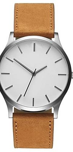 ราคาถูก -สำหรับผู้ชาย นาฬิกาข้อมือ นาฬิกาอิเล็กทรอนิกส์ (Quartz) หนัง ดำ / น้ำตาล ดีไซน์มาใหม่ นาฬิกาใส่ลำลอง ปุ่มหมุนขนาดใหญ่ ระบบอนาล็อก ไม่เป็นทางการ แฟชั่น ดูง่าย - สีดำ สีน้ำตาล สีดำและสีขาว / หนึ่งปี