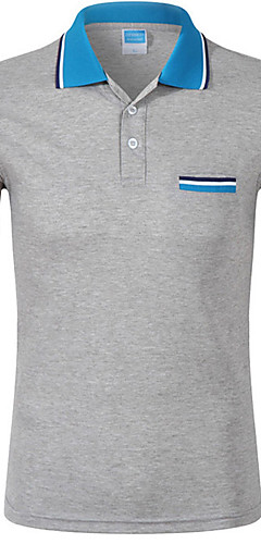abordables -Homme Couleur Pleine Polo - Coton Sports Col de Chemise Blanche / Noir / Bleu / Violet / Rouge / Jaune / Fuchsia / Orange / Eté