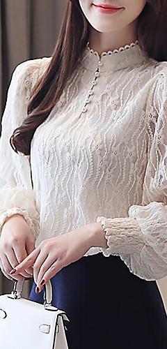 billige -Bluse Dame - Ensfarget Dusty Rose Hvit