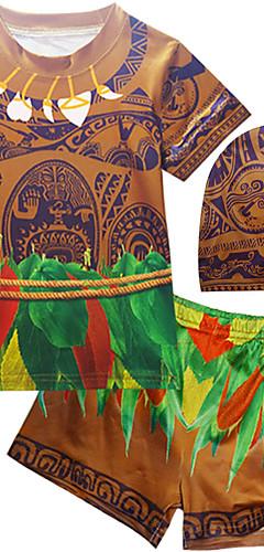 ราคาถูก -ชุดว่ายน้ำ ชุดว่ายน้ำชุดคอสเพลย์ ซุปเปอร์ฮีโร่ สำหรับเด็ก คอสเพลย์และคอสตูม คอสเพลย์ วันฮาโลวีน กาแฟ Printing วันคริสต์มาส วันฮาโลวีน เทศกาลคานาวาล / Top / หมวก