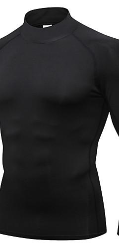 ราคาถูก -YUERLIAN สำหรับผู้ชาย เสื้อยืดรัดรูป สีดำ สีเทาเข้ม สีดำ / สีแดง ขาว สีดำ / สีเขียว วิ่ง การออกกำลังกาย ยิมออกกำลังกาย เสื้อยึด ชั้นฐาน แขนยาว กีฬา ชุดทำงาน Lightweight กันลม แห้งเร็ว Sweat-wicking