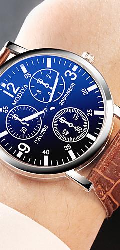 ราคาถูก -YAZOLE สำหรับผู้ชาย นาฬิกาตกแต่งข้อมือ นาฬิกาอิเล็กทรอนิกส์ (Quartz) หนัง ดำ / น้ำตาล นาฬิกาใส่ลำลอง ระบบอนาล็อก แฟชั่น - สีดำ สีดำ / สีน้ำตาล สีน้ำตาล หนึ่งปี อายุการใช้งานแบตเตอรี่ / สแตนเลส