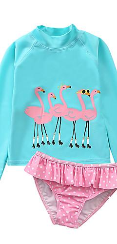 ราคาถูก -ชุดว่ายน้ำ ชุดว่ายน้ำชุดคอสเพลย์ Swan สำหรับเด็ก ชุดชั้นในแบบChinlon คอสเพลย์และคอสตูม คอสเพลย์ วันฮาโลวีน สีเขียว / ฟ้า / สีชมพู Printing Swan วันคริสต์มาส วันฮาโลวีน เทศกาลคานาวาล / Top