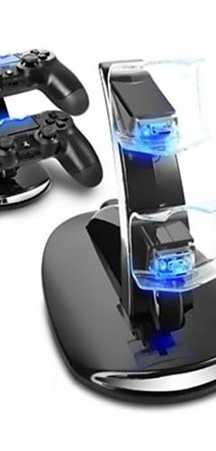 preiswerte -Ladestation langlebige LED-Licht-Indikatoren Spiel Controlle Ladegerät Kits für ps4 / ps4 slim / ps4 pro