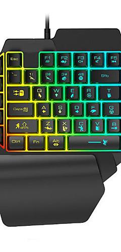 preiswerte -LITBest K15 USB verkabelt Gaming-Tastatur Mini Spielen Multi farbige Hintergrundbeleuchtung 35 pcs Schlüssel