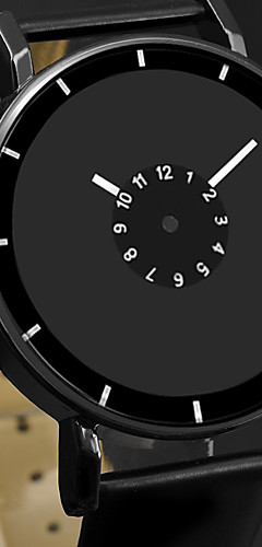 ราคาถูก -สำหรับผู้ชาย นาฬิกาตกแต่งข้อมือ นาฬิกาอิเล็กทรอนิกส์ (Quartz) หนัง ดำ / สีขาว นาฬิกาใส่ลำลอง ระบบอนาล็อก แฟชั่น ที่เรียบง่าย ดูง่าย - ขาว สีดำ ดำ / ขาว หนึ่งปี อายุการใช้งานแบตเตอรี่ / สแตนเลส