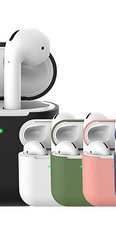 preiswerte -Schutzhülle Einfach Mehrfarbig Apple Airpods Stossfest Kratzfest Ganzkörper Silikon / Silikon / Silica Gel