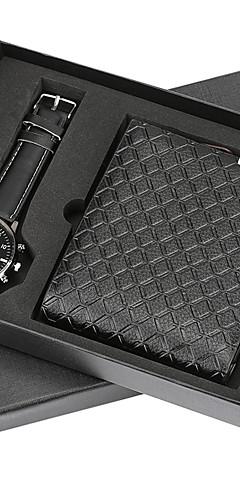 ราคาถูก -สำหรับผู้ชาย นาฬิกาตกแต่งข้อมือ นาฬิกาอิเล็กทรอนิกส์ (Quartz) ชุดของขวัญ สแตนเลส หนัง เงิน / น้ำตาล ไม่ โครโนกราฟ น่ารัก Creative ระบบอนาล็อก มาใหม่ แฟชั่น - สีเงิน สีดำ / สีน้ำตาล สีน้ำตาล / หนึ่งปี