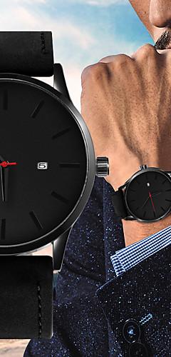 ราคาถูก -สำหรับผู้ชาย นาฬิกาแนวสปอร์ต นาฬิกาอิเล็กทรอนิกส์ (Quartz) หนัง ดำ / น้ำตาล 30 m ปฏิทิน ดีไซน์มาใหม่ นาฬิกาใส่ลำลอง ระบบอนาล็อก ไม่เป็นทางการ แฟชั่น - สีดำ สีดำ / สีน้ำตาล สีน้ำตาล / หนึ่งปี
