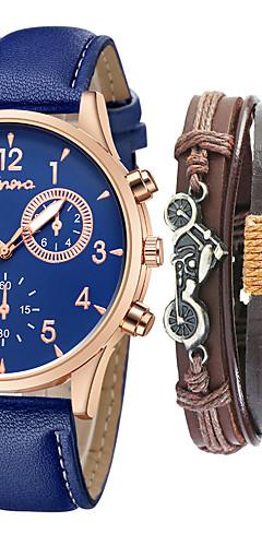ราคาถูก -สำหรับผู้ชาย นาฬิกาแนวสปอร์ต นาฬิกาอิเล็กทรอนิกส์ (Quartz) PU Leather ดำ / ฟ้า / น้ำตาล ไม่ โครโนกราฟ ดีไซน์มาใหม่ นาฬิกาใส่ลำลอง ระบบอนาล็อก ไม่เป็นทางการ มาใหม่ - สีดำ สีน้ำตาล ดำ / ขาว